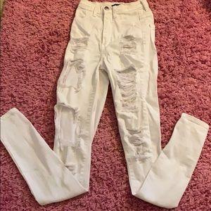 Ripped white Fashion Nova jeans